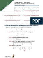 Guía Fracciones en la recta numérica