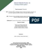 AA5 Evidencia 6 Propuesta Plan maestro y estrategias de distribución logística