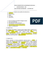 PROVA TEÓRICA RFM 0012 2019 FONO E NUTRIÇÃO  25 DE ABRIL