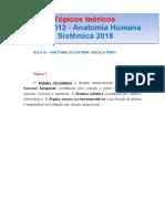 TÓPICOS TEÓRICOS AULA III RFM 0012 SISTEMA CIRCULATÓRIO