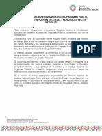20-10-2020 Revisa gobierno del estado diagnóstico del programa para el fortalecimiento de Policías Estatales y Municipales