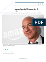 Tres preguntas que se hace Jeff Bezos antes de contratar a alguien