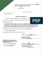 Hunter Complaint Affidavit
