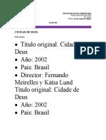 CIUDAD DE DIOS- ANALISIS