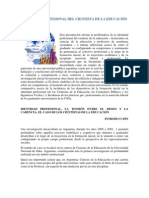 IDENTIDAD PROFESIONAL DEL CIENTISTA DE LA EDUCACIÓN