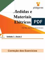Medidas e Materiais Elétricos - Aula 3