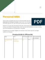 Personal MBA - Des livres pour changer de vie