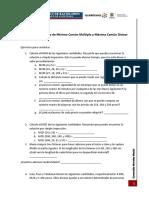 Ejercicios de Mínimo Común Multiplo y Máximo Común Divisor