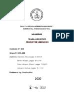 Trabajo Práctico - Productos y servicios