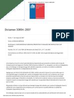 SUSESO_ Normativa y jurisprudencia - Dictamen 30894-2007