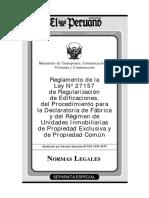 Reglamento de la Ley N° 27157_organized