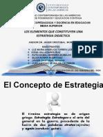 ELEMENTOS DE UNA ESTRATEGIA DIDÁCTICA