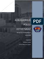 APD's Annual Use of Force Report