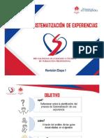 SISTEMATIZACIÓN DE EXPERIENCIAS - Revisión Etapa 1
