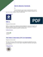 Las Organizaciones en las que participa guatemala