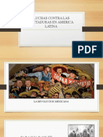 LUCHAS CONTRA LAS DICTADURAS EN AMERICA LATINA