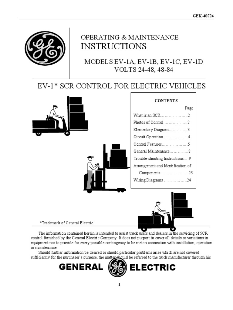 Ev1 Scr Motor Controller Electric Current Battery Electricity Hyster Wiring Schematics