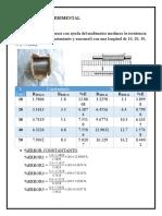 Práctica 2 Resistencia Eléctrica, resistividad y óhmetro REPORTE