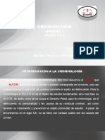 CRIMINOLOGIA UNIDAD I TEMAS 1 Y 2
