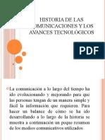 historia de las comunicaciones y los avances tecnológicos