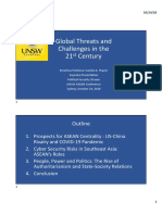 Thayer, Global Threats and Challenges in the 21st Century