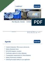Medical Battery Webinar handouts