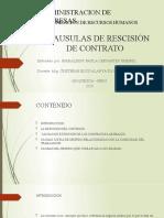 CLAUSULAS DE RESCISIÓN DE CONTRATO