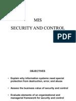 managing MIS security control