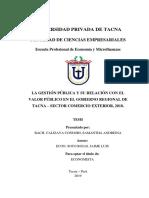 LA GESTIÓN PÚBLICA Y SU RELACIÓN CON EL VALOR PUBLICO