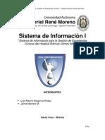 Informe Sistema de Informacion para Gestion de Expedientes Clinicos
