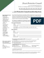 DPC membership form