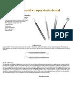 Instrumental en operatoria dental