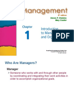 Intro to Management and Org