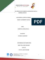 INVESTIGACION DE LA EMPRESA NESTLE  GERENCIA ESTRATEGICA.