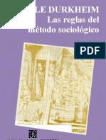 LAS REGLAS DEL METODO SOCIOLOGICO - EMILE DURKHEIN - PDF