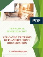 DIAPOSITIVA PLANIFICACION Y ORGANIZACION