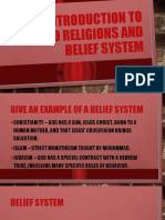 Defintion of Terms World Religions Day 1