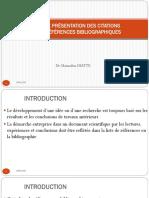 2. Guide de présentation des citations et références biblio