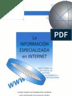 La Informacion Especializada en Internet2001