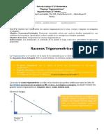 Guia de Aprendizaje N° 5 Razones trigonométrica II Medio