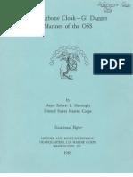 Herringbone Cloak - GI Dagger Marines of the OSS