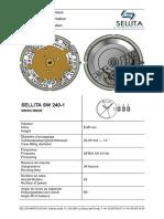 Brochure Technical Documentation Watch Movement Sellita SW240-1