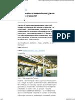 Redução do consumo de energia em conjunto industrial