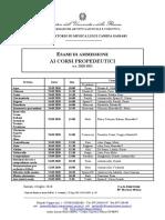 CALENDARIO ESAMI AMMISSIONE_CORSI PROPEDEUTICI_A.A. 2020-2021