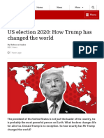 US Election 2020_ How Trump Has Changed the World