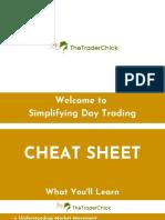 Simplifying day trading cheat sheet