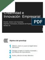 S3 - Creatividad e Innovación Empresarial