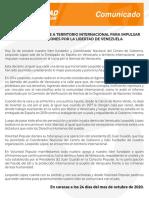 Leopoldo López sale al territorio internacional para impulsar nuevas acciones por la libertad de Venezuela (Comunicado)