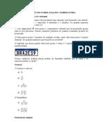 Exercício sobre analise combinatoria - cap 10 - 4° bimestre.docx