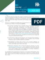 CONVOCATORIA CONSEJO DIRECTIVO NACIONAL 2020-2023(1)